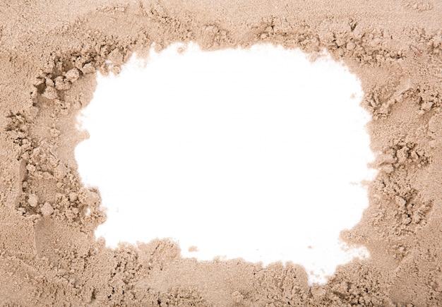 コピースペースで砂フレーム 無料写真