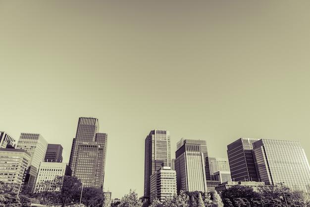 Токио, япония городской пейзаж (фильтрованное изображение обработано марочные эффект Бесплатные Фотографии