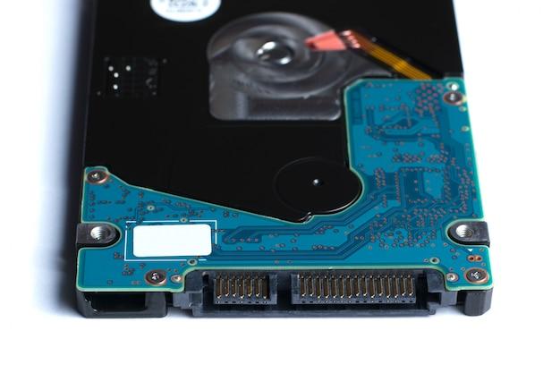 Жесткий диск изолирован на белом Premium Фотографии