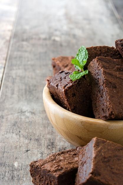 チョコレートブラウニーポーション Premium写真