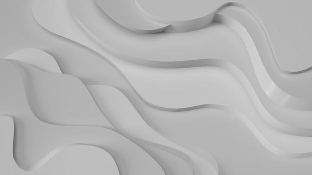 エレガントなグレーのレリーフ。地形の抽象的な背景。美しい流体設計。 Premium写真