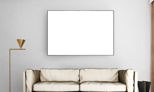 Современный интерьер комнаты Premium Фотографии