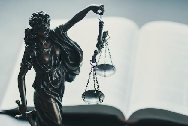 スケールを保持している正義の銀図 Premium写真