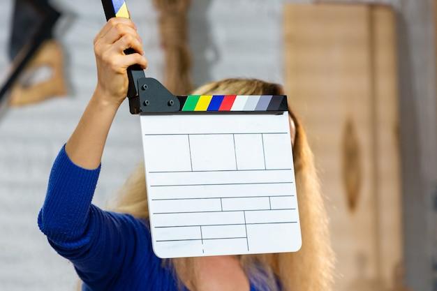 За кулисами видеопроизводства или видеосъемки Premium Фотографии