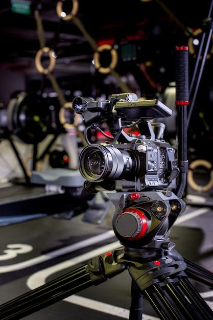 プロのカメラ機器、映画制作スタジオの詳細 Premium写真