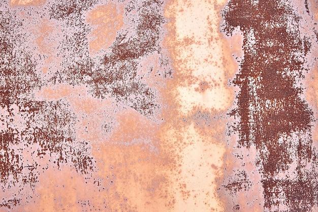 古い苦しめられた茶色のテラコッタ銅さびた背景ラフテクスチャ多色介在物。ステンドグラスの粗い粗い表面。 Premium写真