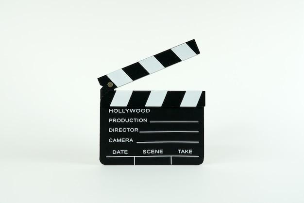 コピースペースを持つ映画クラッパーボード。 Premium写真