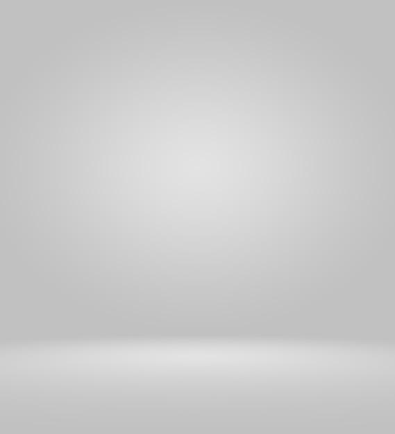 Пустой белый и серый фон студии Premium Фотографии