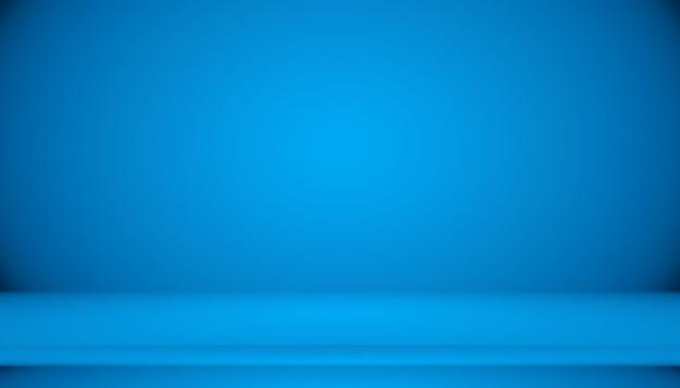 Синий градиент абстрактный фон пустая комната с пространством Premium Фотографии