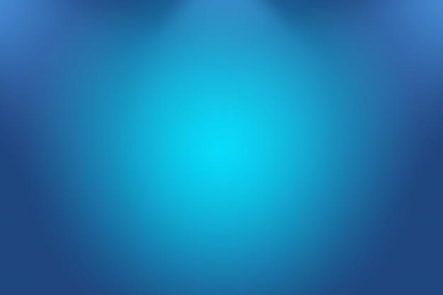 抽象的な高級グラデーションブルーの背景。黒のビネットスタジオバナーと滑らかなダークブルー。 Premium写真