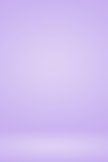 スムーズエレガントなグラデーション紫色の背景もデザインとして使用します。 Premium写真