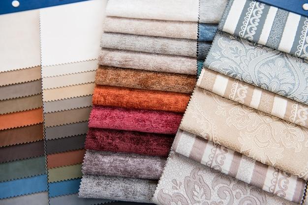 Ассорти выбор образцов цвета ткани Premium Фотографии