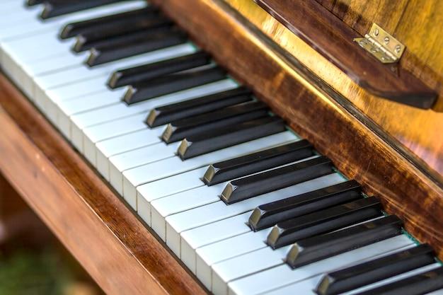 Заделывают клавиш пианино Premium Фотографии