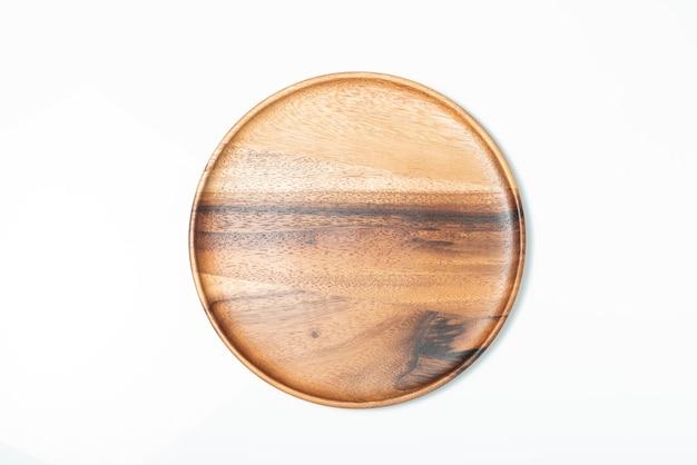 Опорожните деревянную плиту изолированную на белизне, взгляд сверху. Premium Фотографии