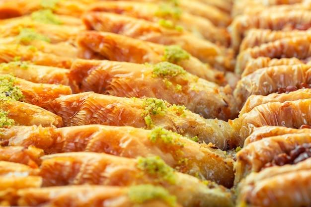 Турецкий десерт пахлава Premium Фотографии