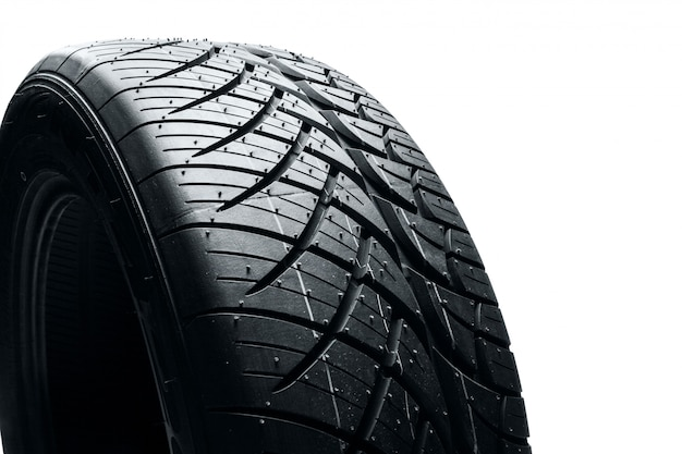 ゴム製車のタイヤ Premium写真