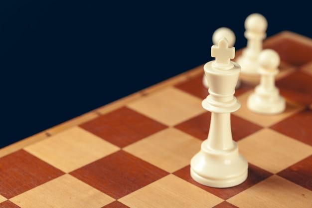 チェスのビジネスコンセプト、リーダー、成功。 Premium写真