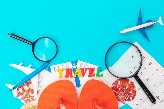 Концепция планирования путешествий. Premium Фотографии
