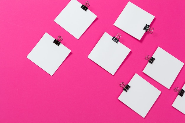 モックアップカードの論文。平面図、平置き Premium写真