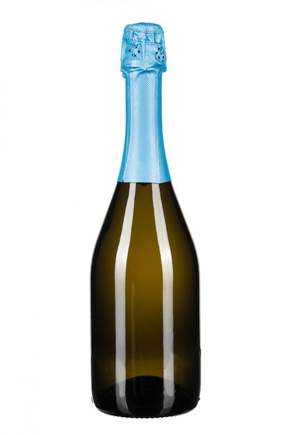 白で隔離されるシャンパンのボトル Premium写真