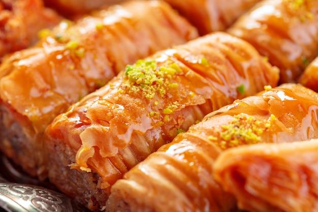 トルコのデザートバクラヴァ Premium写真