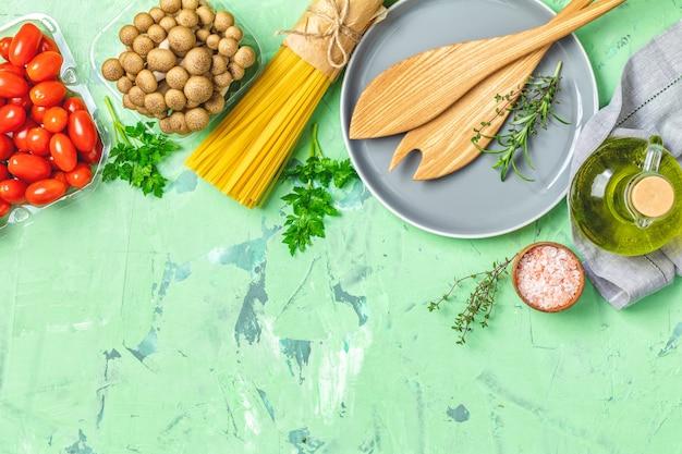 トップビュー、健康食品のコンセプト、トップビュー、コピースペース Premium写真