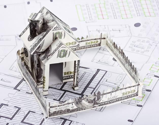 建築計画のためのお金の家 Premium写真