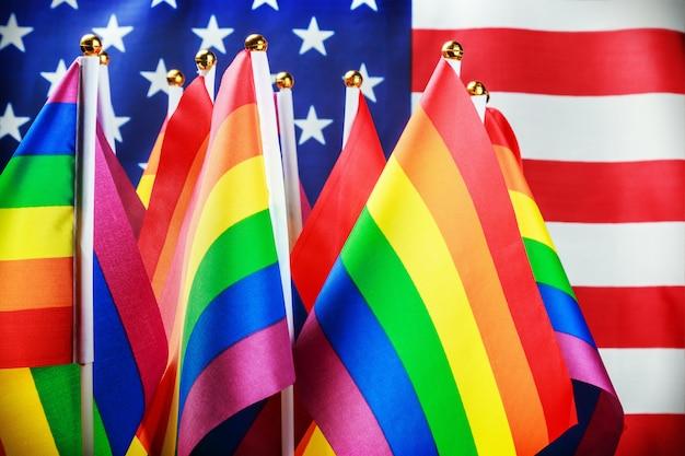 Флаги лгбт-сообщества Premium Фотографии
