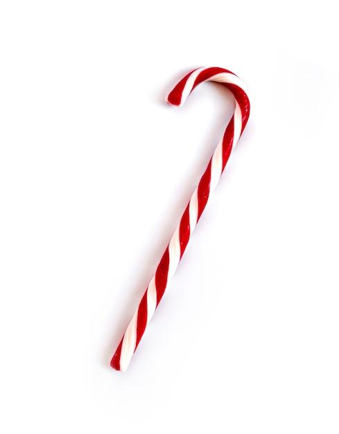 分離されたクリスマスキャンデー杖 Premium写真