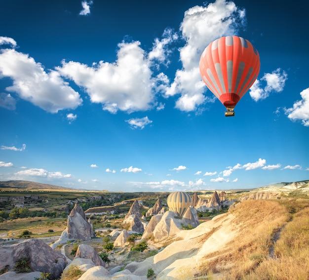 カッパドキア上空の熱気球 Premium写真