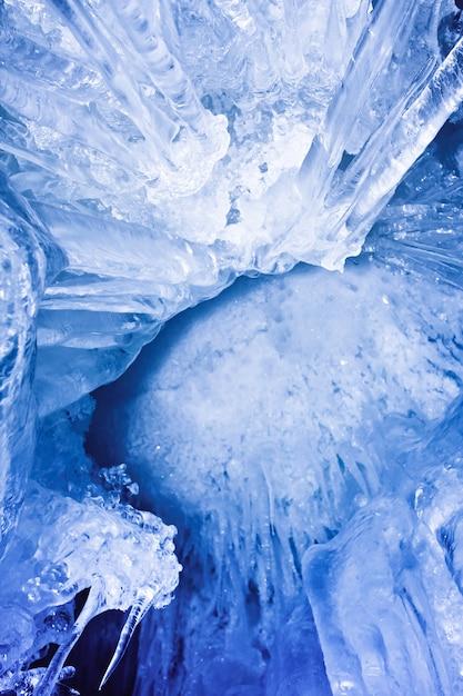 青い氷の洞窟 Premium写真