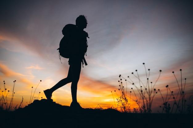 Женщина походы в горы Бесплатные Фотографии