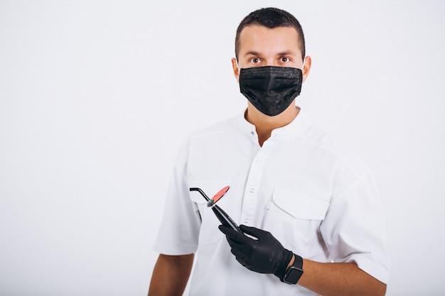 歯医者の服を着て 無料写真