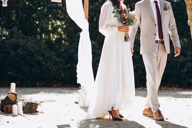 花嫁と花婿 無料写真