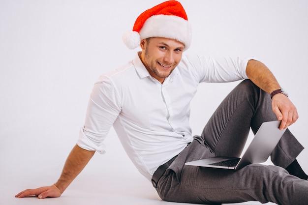 ビジネスの男性がクリスマスにオンラインショッピングを分離 無料写真