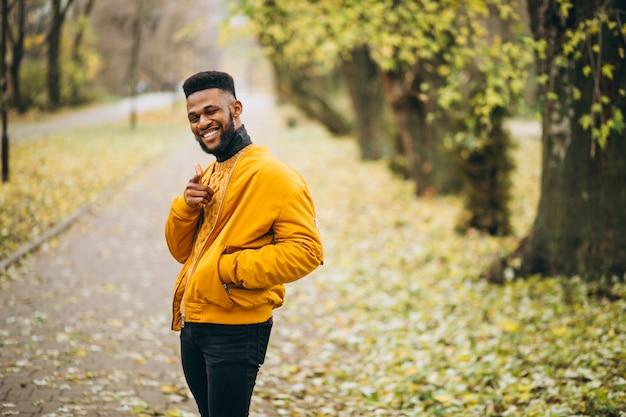 アフリカ系アメリカ人学生が公園を散歩して 無料写真
