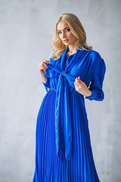Женщина в голубом платье Бесплатные Фотографии