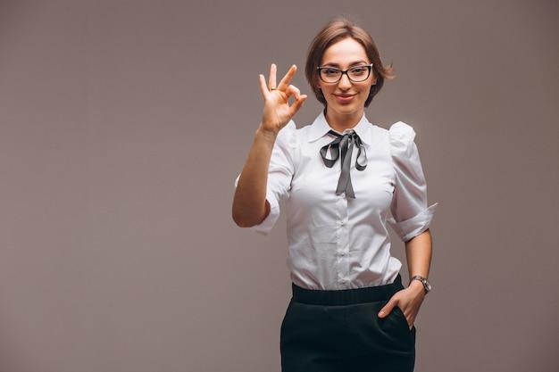 分離された感情を持つ女性実業家 無料写真
