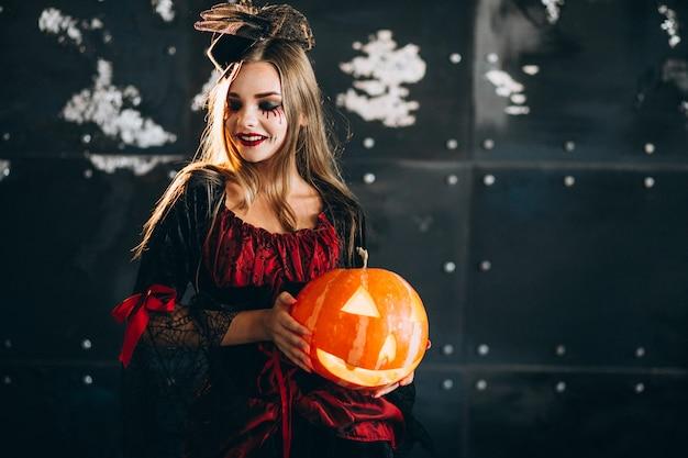 Женщина в костюме хэллоуина Бесплатные Фотографии