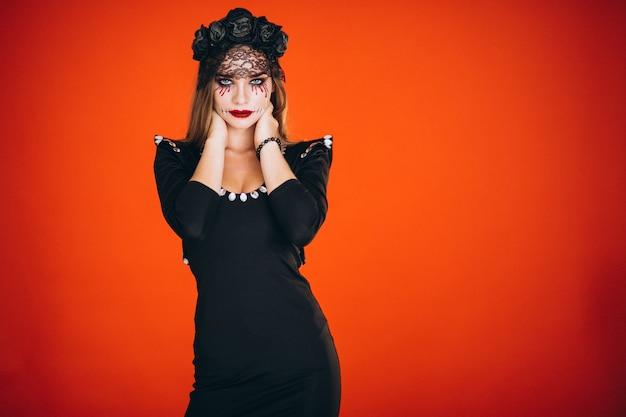 ハロウィーンの衣装の女性 無料写真