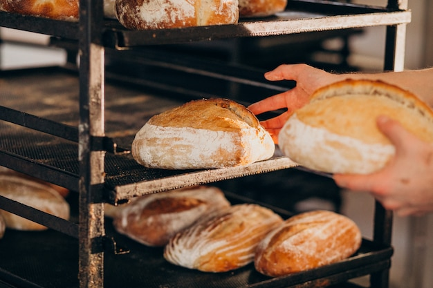 パン焼き産業、おいしいペストリー 無料写真