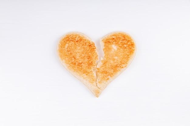 パントースト失恋シンボル、離婚、分裂、不幸な関係の概念 Premium写真