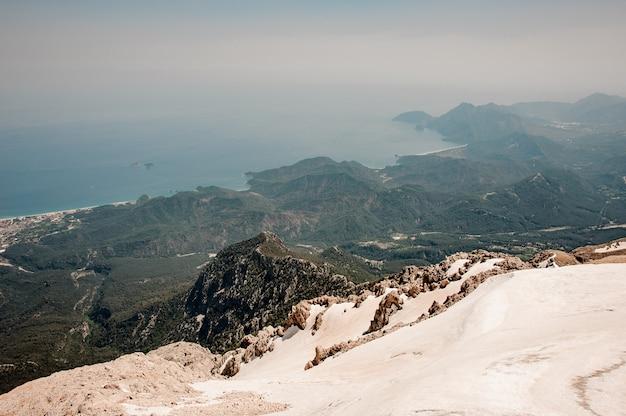 雪に覆われた高地の風景 Premium写真