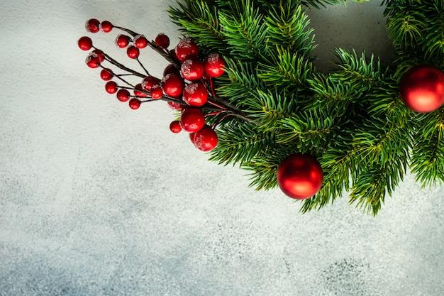 クリスマスの装飾の背景 Premium写真