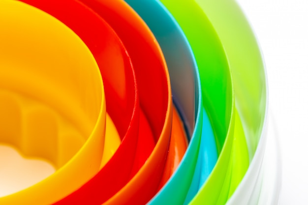虹の色と同心円の美しい質感。 Premium写真