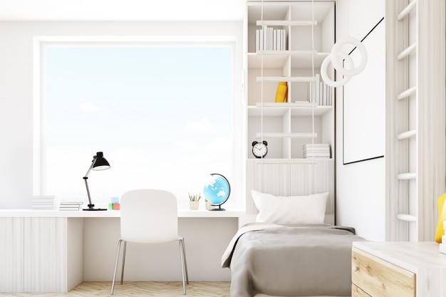 正方形の窓と子供部屋 Premium写真