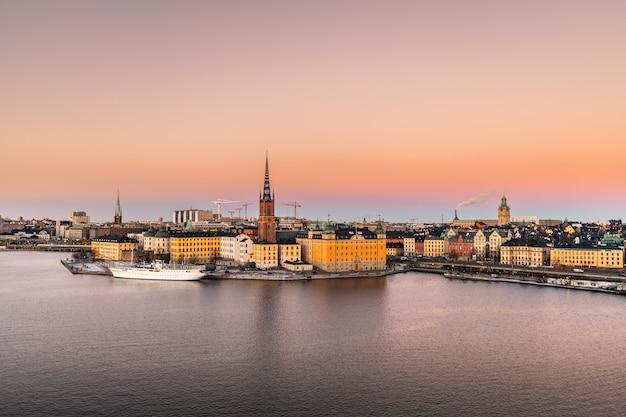 Стокгольм город в швеции. Premium Фотографии