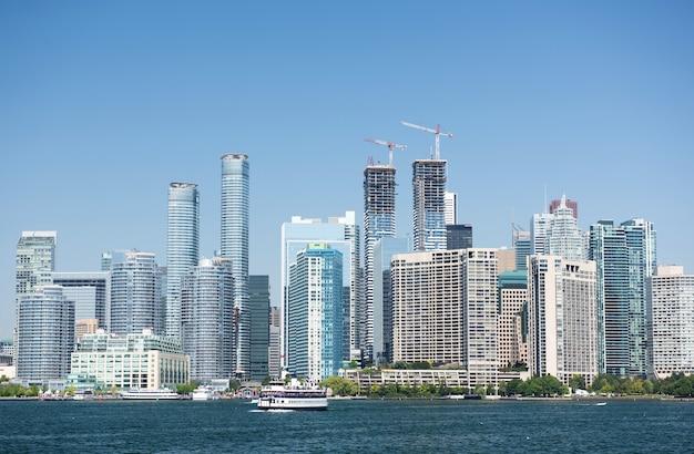 Горизонты города торонто в канаде Premium Фотографии