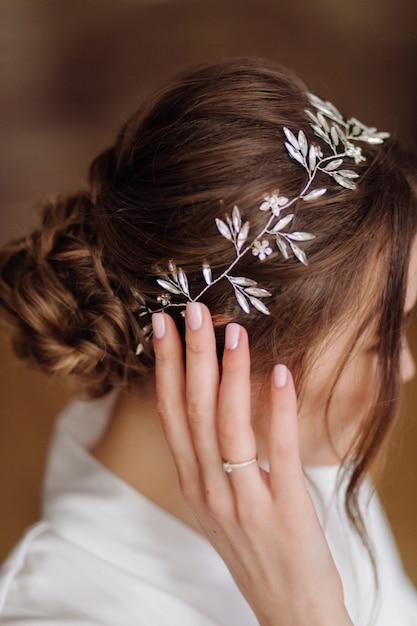 Невеста цветочные украшения тиара Бесплатные Фотографии
