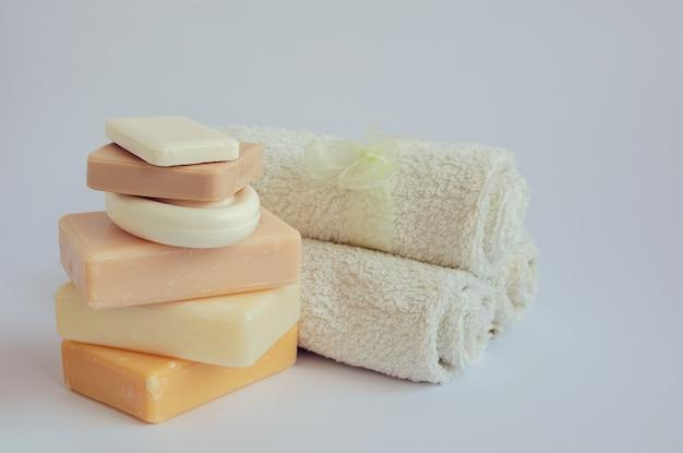 天然石鹸のスパ設定 Premium写真